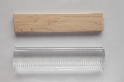 ガラスと木のブリック