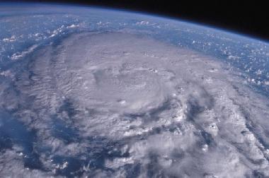 宇宙からの台風