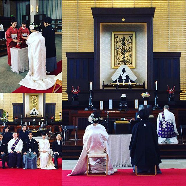 #乗泉寺 #結婚式 #お寺で結婚式お寺で結婚式がつとまりました。仏さまのご加護をいただいて、いつまでにお幸せに!